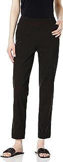 SLIM-SATION 女式套穿式印花及踝裤,带真实前口袋