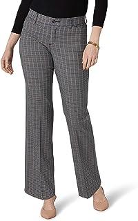 LEE 女式娇小弹性运动常规修身裤