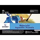 Canson Montval 水彩块,冷压无酸法国纸,63.5 千克,6 x 9 英寸,15 张
