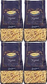 Camp'Oro Le Regionali Italian Pasta, Strozzapreti, 17.6 oz (Pack of 4), 4 lb