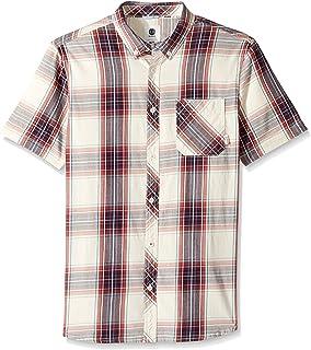 Element 男士雪松轻质弹性短袖梭织衬衫