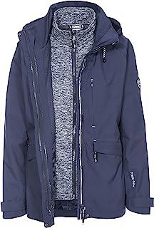 Trespass 女式巡航防水三合一夹克,带隐藏式兜帽,带系带调节器和可拆卸抓绒内衬
