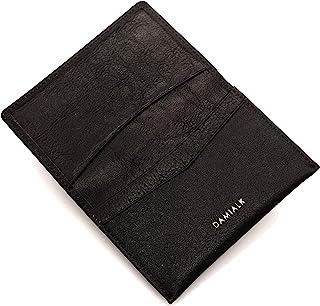 [DAMIALK] 全粒面牛皮名片夹信用卡包 男女皆宜 - 棕色