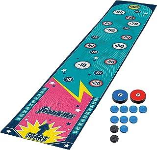 Franklin Sports Shuffleboard 桌游垫 - 桌面洗牌板垫和推杆 - 室内洗牌板游戏