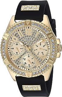 GUESS 舒适的防污硅胶手表,带有日期和24小时军事/国际时间,型号:U1160L1
