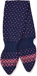 maximo 女婴带插环和圆点图案围巾,多色(*蓝/粉色混色 4885),(制造商尺寸:均码)
