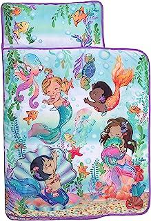 Baby Titi – 幼儿睡垫带可拆卸枕头 – 消防员 – 带肩带封口的提手,卷起设计,柔软超细纤维,适合学前班、日托、旅行睡袋 – 适合 2-4 岁儿童