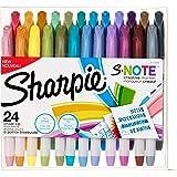 Sharpie S-Note 创意记号笔,荧光笔,各种颜色,凿尖头,24 支装