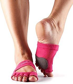 toesox 女式 releve Half 头 GRIP 适用于舞蹈, yoga ,普拉提,以及 barre 脚趾袜皮革鼠标垫