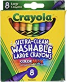 Crayola Washable Crayons, Large, 8 Colors 2 包