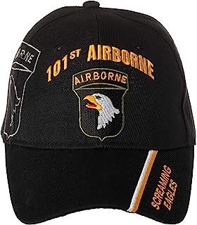 官方*美国** 101 号空载分部鸣鹰队刺绣黑色可调节棒球帽