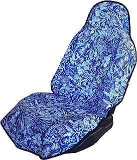 座椅套头衫 - * 防水防汗汽车和卡车座椅套保护套通用款,可机洗,背部抓地力强,游泳,冲浪,锻炼,海滩,狗狗 蓝色 333333