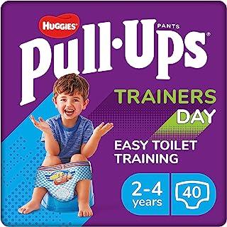 Huggies Pull Ups 训练日,男孩,尺码 2-4 岁,尿布尺码 5-6+,40 岁大童训练裤
