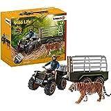 Schleich Wild Life Quad 自行车10件套玩具,带拖车和游侠,适合3-8岁的孩子