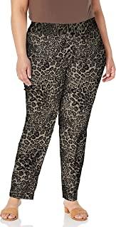 SLIM-SATION 女式加大码双面套穿印花及踝裤