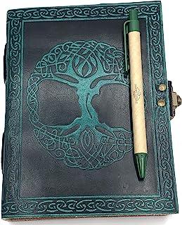这款 Sweet Earth 皮革日记本 带锁闩凯尔特人或生命树设计 带笔(生命绿树,12.7 厘米 x 17.78 厘米)