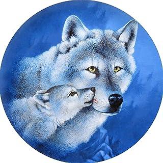 5D 全钻雪狼钻石绘画套装,小狼 DIY 钻石水钻绘画套件,适合成人和初学者钻石艺术手工 11.8 × 11.8 英寸