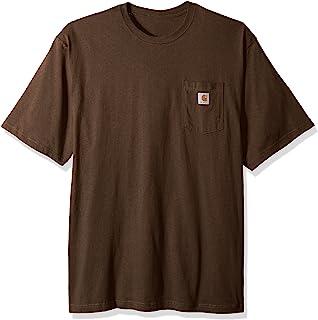 Carhartt 男士加大加长工作服口袋短袖 T 恤原创合身款 K87