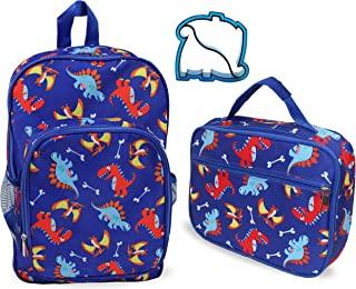 Keeli 儿童背包和午餐盒套装(恐龙背包和午餐盒套装) Blue Dino Backpack and Lunch Box Set One Size