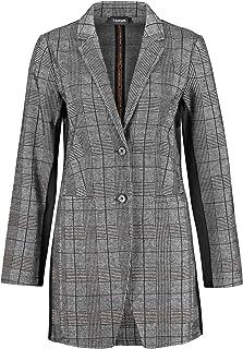 Taifun 女士长款外套,带格伦格纹,凸显身材。