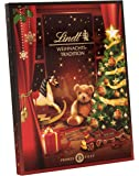 Lindt 瑞士莲 圣诞传统 巧克力圣诞日历, 内含巧克力小人, Lindor 巧克力球, Fiorettos 巧克力和…