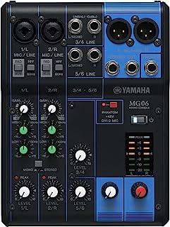 Yamaha雅马哈 MG 06 模拟混音器(6通道,2个麦克风,XLR,12瓦)