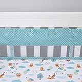 Disney 婴儿床衬垫 Aqua/White/