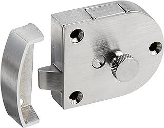 "Rockwood 602.26D 铸造黄铜门锁,2-3/8""宽 x 2""高(约5.08-7.62/20.32 x 5.08厘米),2-3/4""行程宽 x 2""行程长(约5.08-7.62/10.16 x 5.08厘米),缎面透明涂层"