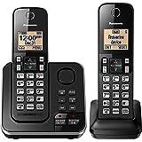 Panasonic(r) Kx-Tgc362b 双听筒可扩展无线电话带应答系统 7.60in. x 5.80in. x…