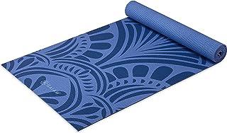 Gaiam 瑜伽垫 - 优质 5 毫米印花厚防滑锻炼和健身垫,适用于各种类型的瑜伽、普拉提和地板锻炼(172.72 厘米 x 60.96 厘米 x 5 毫米)