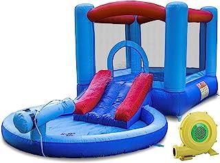 Kangaroo Kastle 充气滑梯和弹跳屋 带鼓风机和水枪/儿童戏水池