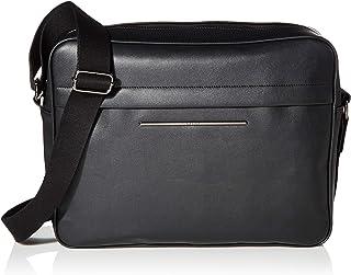 Ted Baker London 男式 Keyz PU 貼袋,黑色,O/S