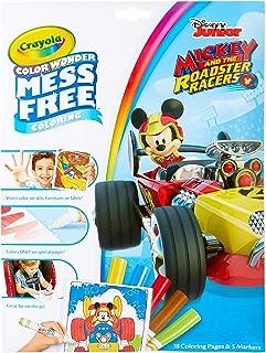Crayola Color Wonder 著色書頁和記號筆,自由著色,送給孩子的禮物 Color Wonder Mickey Mouse Roadsters