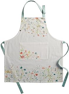 Maison d' Hermine Colmar * 纯棉 1 件厨房围裙 可调节颈部和可视中心口袋带长领带 适合女士男士| 厨师(27.5 英寸 x 31.5 英寸)