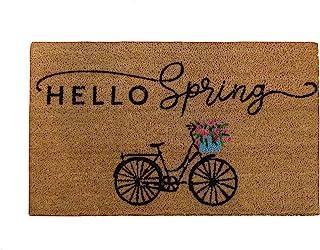 "Elrene Home Fashions Farmhouse Living Hello Spring Bike Coir门垫,18""x30"""