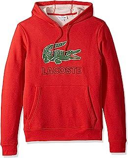 LACOSTE 鳄鱼 男式长袖图形 Croc 拉绒 运动衫 连帽衫