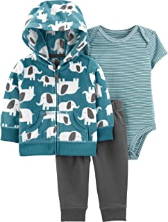 Carter's 大象图案夹克3件套