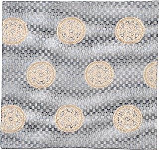 修房(Syusai) 古帛纱 藏青 尺寸:长15.6x宽15x厚0.3cm 交织 纱布 大花纹