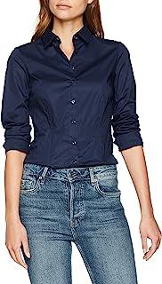Seidensticker 女士衬衣长袖修身修身单色 弹性
