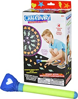 Chalktivity - 创意动作 - 印章棒带 4 个粉末粉笔包
