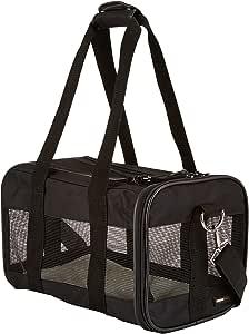 AmazonBasics 亚马逊倍思 软面网眼宠物旅行背带,小号(14 x 9 x 9 英寸),黑色