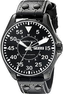 Hamilton 男士 H64785835 卡其色King Pilot 黑色表盘腕表