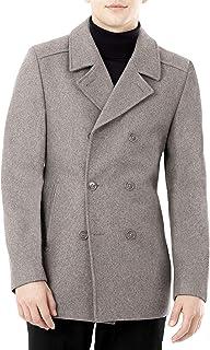 DKNY 男式现代粗呢大衣