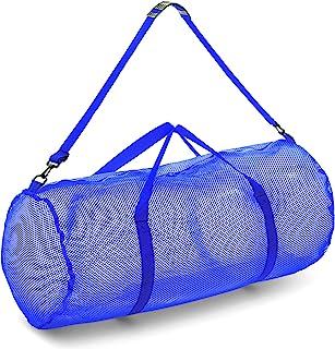 Champion Sports 网眼行李袋带拉链和可调节肩带,15 x 36 英寸(约 38.1 x 91.4 厘米) – 多功能,超大健身包,适合设备、运动装备、洗衣 – 透气网眼潜水和旅行包