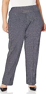 SLIM-SATION 女式加大码套穿纯色易穿针织宽松腿裤