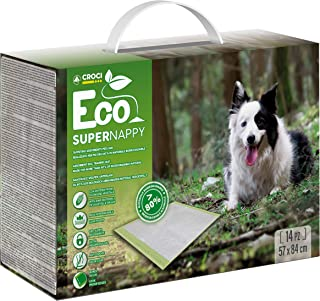 Croci Super Nappy Eco 狗狗吸垫,84 x 57厘米,14个脚垫 - 1000克