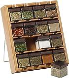 Kamenstein Bamboo Inspirations 16立方格 香料架,免费提供5年香料补充