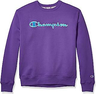 Champion Men's Powerblend Applique Crew Neck Sweatshirt