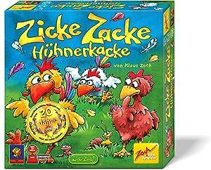 Zoch 601121800 Zicke Zacke 小鸡粪便,儿童游戏 1998,快记忆跑,适合 4 岁以上儿童,棕色