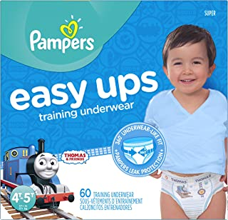 Pampers Easy Ups Training Pants Boys, Value Pack Boys, Size 6 (4T5T), 78 Count 易穿训练裤 4T-5T (Size 6) 60